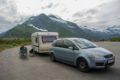 Parking przy drodze do Nyksund