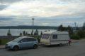 Parking przy drodze E6, za Trondheim