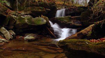 Wodospady na potoku Hulskim
