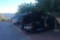 Parking w Roussillon przy szlaku Ochry