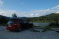 Góry Bucegi, przy zaporze nad jeziorem Bolboci